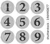 the set of spiral numerals... | Shutterstock . vector #146440877