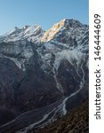 morning view of himalayan peaks ... | Shutterstock . vector #146444609