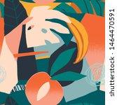 abstract modern tropical... | Shutterstock .eps vector #1464470591