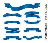 blue ribbons set. vector ribbon ... | Shutterstock .eps vector #1464473837