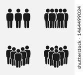set of crowd of people... | Shutterstock .eps vector #1464499034