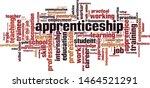 apprenticeship word cloud... | Shutterstock .eps vector #1464521291