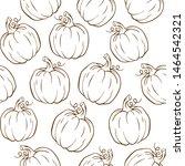 outline pumpkin harvest... | Shutterstock .eps vector #1464542321