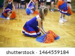 Cheerleading class in school in ...