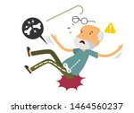 old man falling down and get... | Shutterstock .eps vector #1464560237