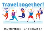 travel together banner with... | Shutterstock .eps vector #1464563567