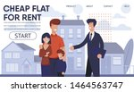 real estate agency landing page ... | Shutterstock .eps vector #1464563747