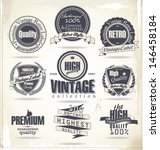 set of vintage retro premium... | Shutterstock .eps vector #146458184