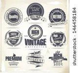 set of vintage retro premium... | Shutterstock .eps vector #146458184