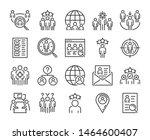 executive search icon. head... | Shutterstock .eps vector #1464600407