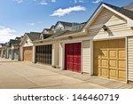 row of garage doors at parking... | Shutterstock . vector #146460719