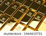 Stock photo row of gold bars financial concepts 1464615731