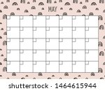 May. Universal Monthly Planner...
