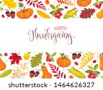 happy thanksgiving greeting... | Shutterstock .eps vector #1464626327
