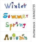 spring  summer  autumn  winter... | Shutterstock . vector #146463755