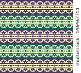seamless pattern with floral... | Shutterstock .eps vector #146467751