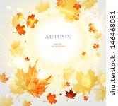 bright autumn leaves light... | Shutterstock .eps vector #146468081