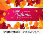 autumn sale background layout... | Shutterstock .eps vector #1464690974