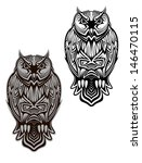 owl bird in tribal style for... | Shutterstock .eps vector #146470115