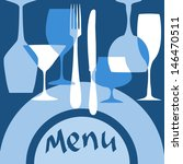 restaurant menu cover with... | Shutterstock .eps vector #146470511