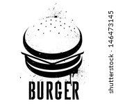 a hamburger illustrated in... | Shutterstock .eps vector #146473145