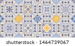 seamless colorful patchwork in... | Shutterstock .eps vector #1464739067