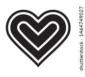 black heart icon vector flat...