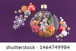 cookies  christmas trees  gift...   Shutterstock . vector #1464749984