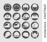 helmet icon   Shutterstock .eps vector #146475665