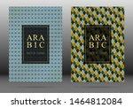 arabesque pattern vector cover... | Shutterstock .eps vector #1464812084
