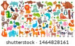 big collection of cute cartoon... | Shutterstock .eps vector #1464828161