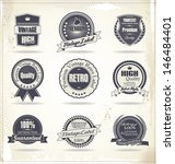 set of vintage retro premium... | Shutterstock .eps vector #146484401