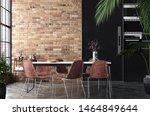kitchen in loft  industrial... | Shutterstock . vector #1464849644