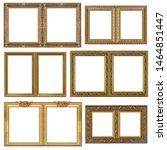 double golden frame  diptych ... | Shutterstock . vector #1464851447