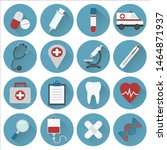 medicine icon collection. flat...   Shutterstock .eps vector #1464871937