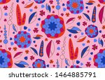 seamless pattern vector with... | Shutterstock .eps vector #1464885791