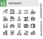set of refinery icons such as... | Shutterstock .eps vector #1464900707