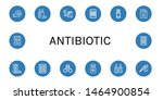 set of antibiotic icons such as ...