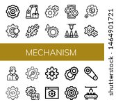 set of mechanism icons such as... | Shutterstock .eps vector #1464901721
