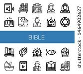 Set Of Bible Icons Such As...