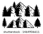 black and white vector... | Shutterstock .eps vector #1464906611
