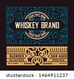 liquor label with design... | Shutterstock .eps vector #1464911237