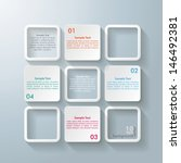 infographic design with white... | Shutterstock .eps vector #146492381