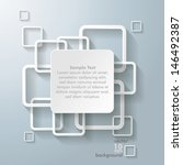 infographic design with white... | Shutterstock .eps vector #146492387