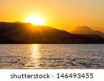 Sunrise At Rocky Sea Coast In...