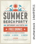 retro summer party design... | Shutterstock .eps vector #146493911