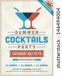 retro summer party design... | Shutterstock .eps vector #146494004