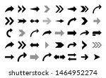 set of flat arrows isolated on...