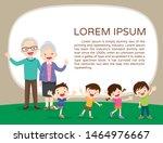 grandparents and grandchildren. ...   Shutterstock .eps vector #1464976667