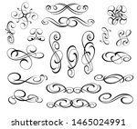 vector drawing with decorative... | Shutterstock .eps vector #1465024991